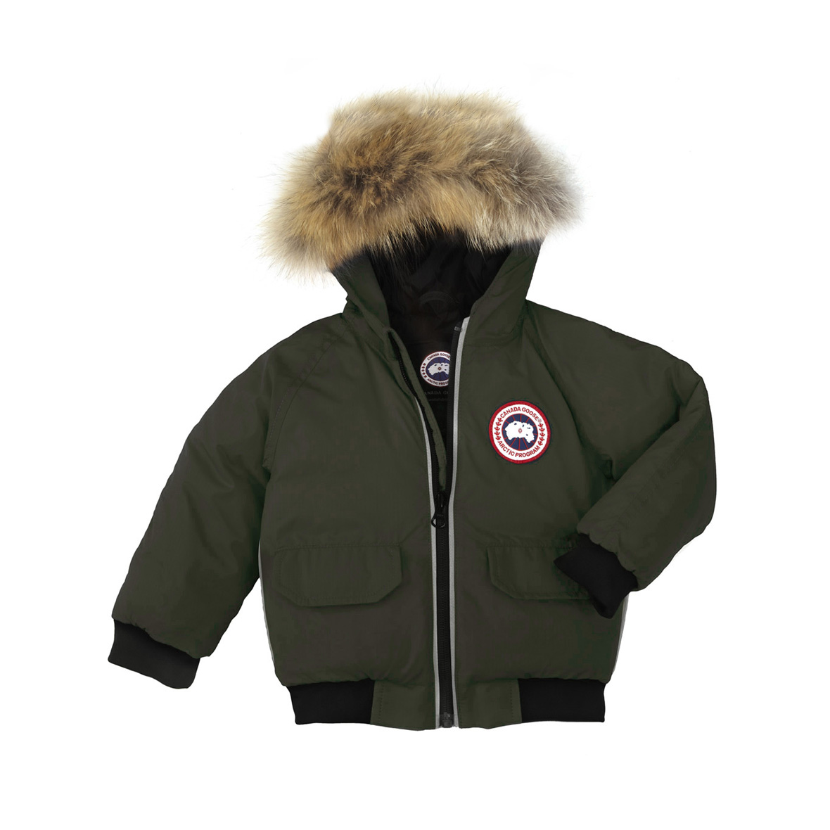 Canada Goose Infant [3M-12M] Elijah Bomber MILITARY GREEN