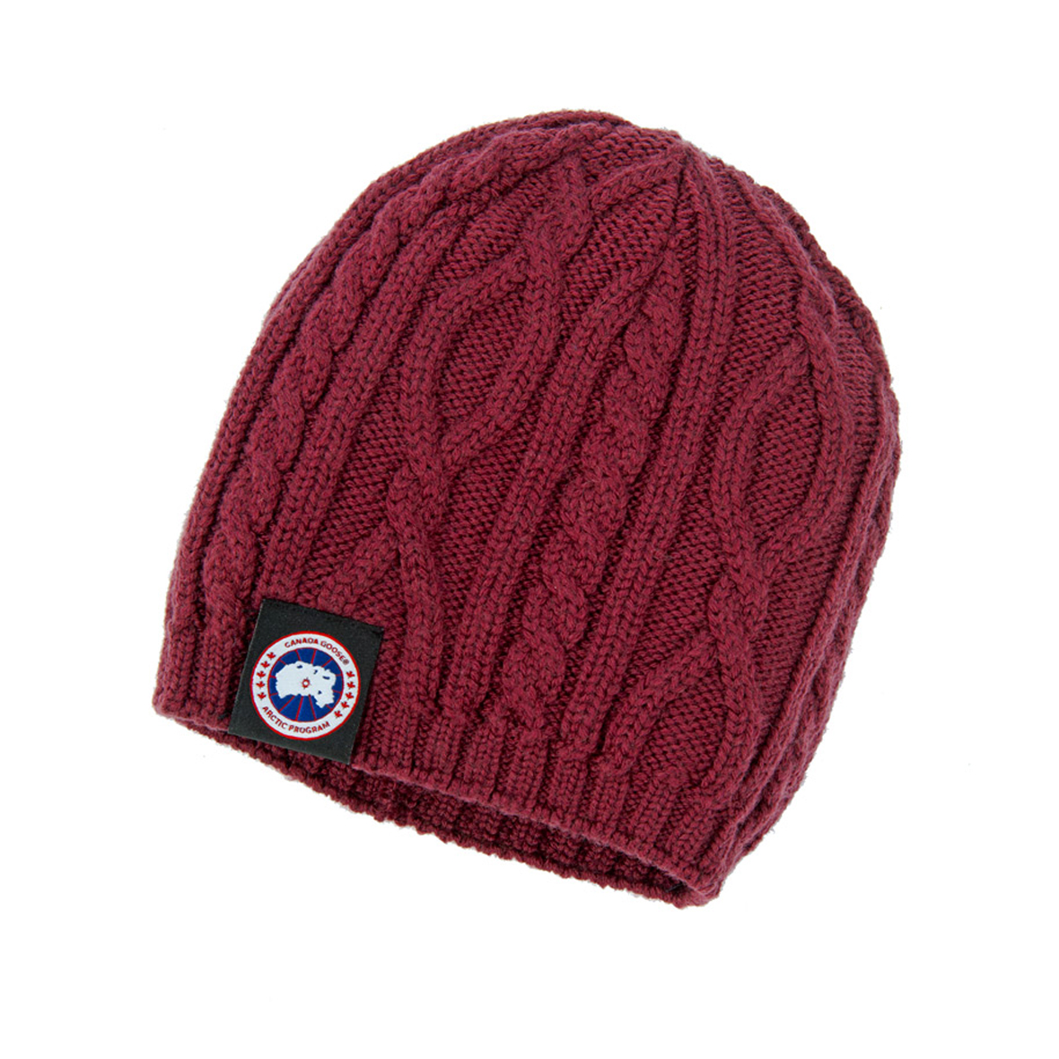 Canada Goose Unisex Merino Cable-Knit Beanie BERRY