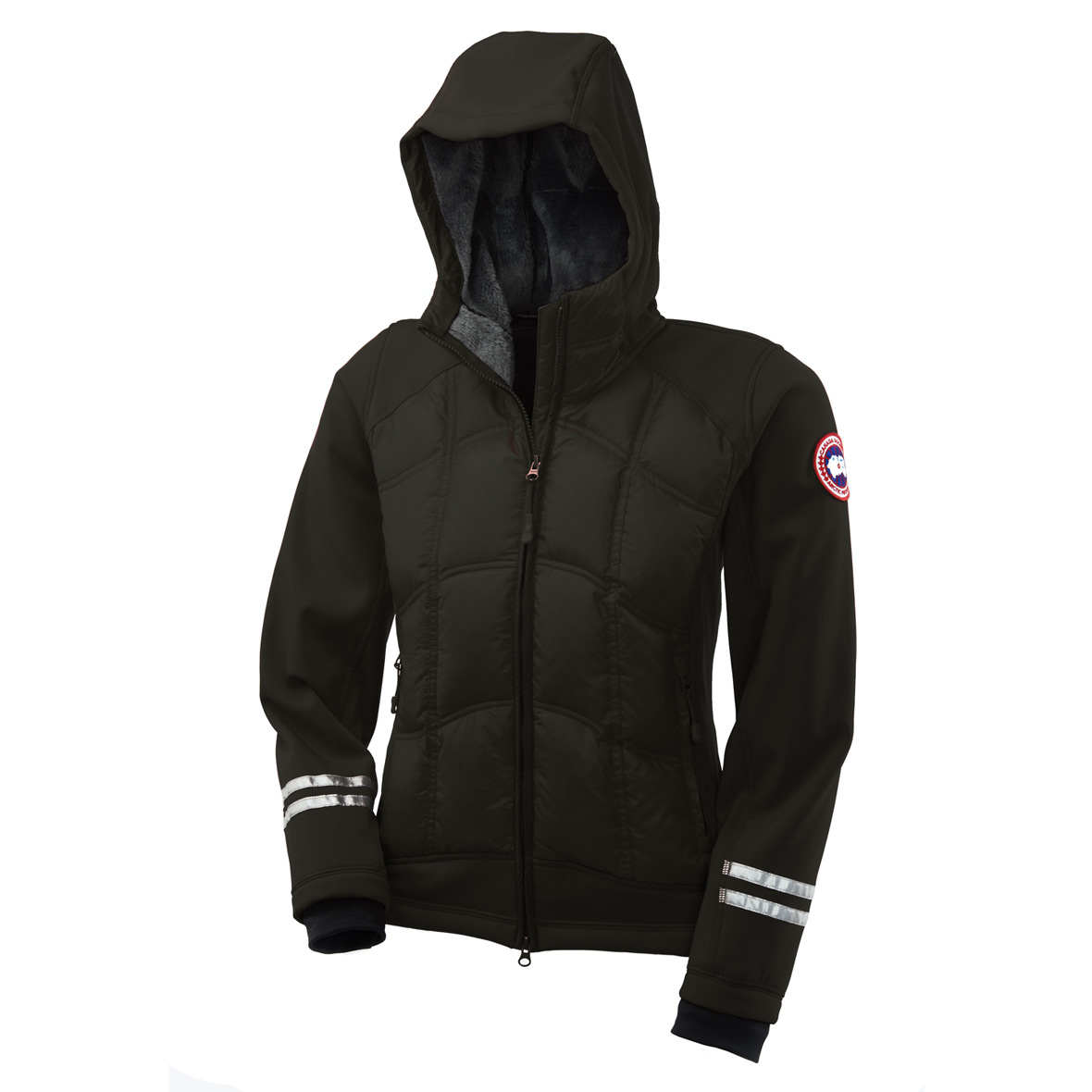 Canada Goose Hybridge Hoodie BLACK For Women