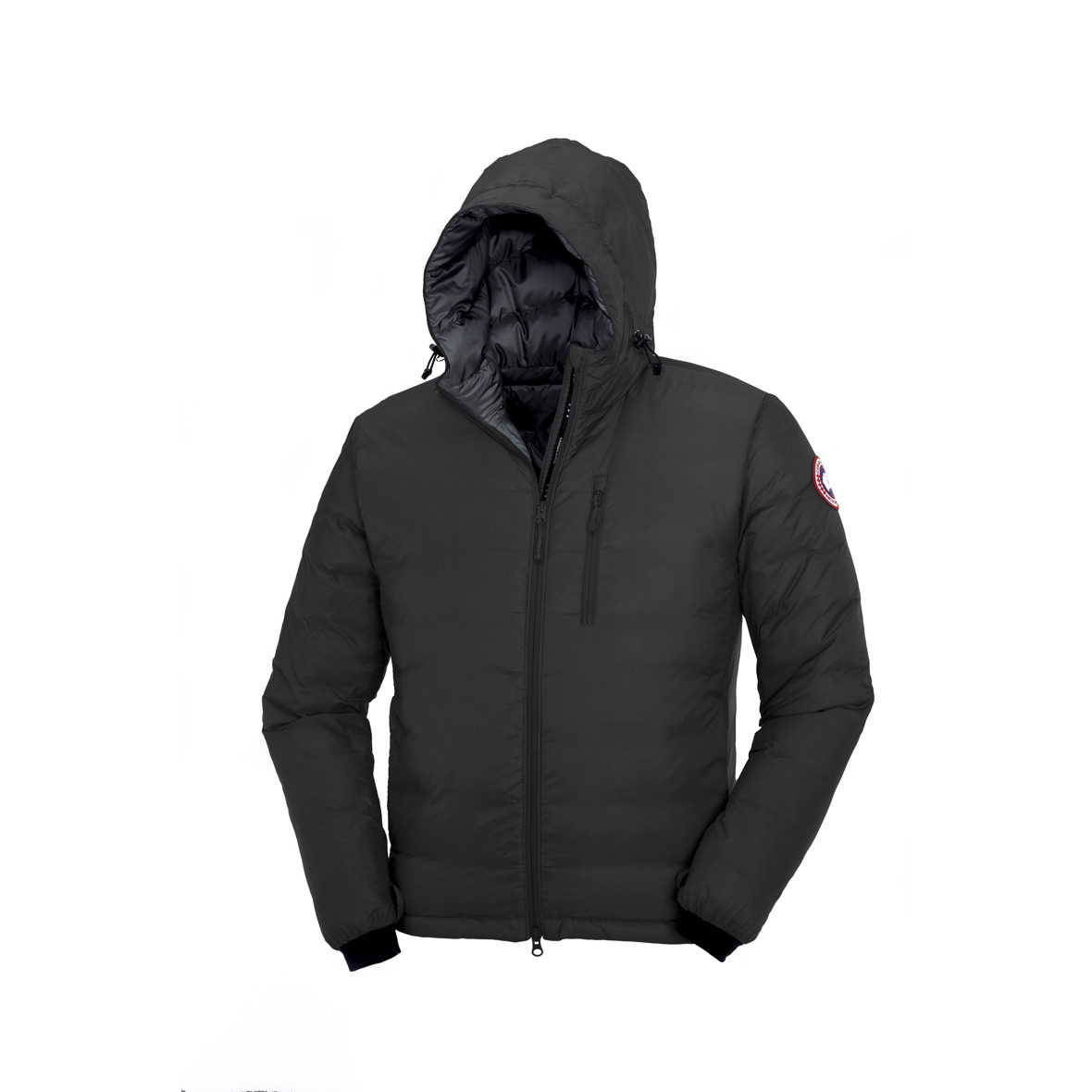 Canada Goose Camp Down Hoodie BLACK For Women