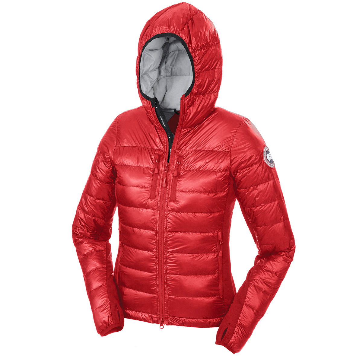 Canada Goose Hybridge Lite Hoody Jacket RED For Women