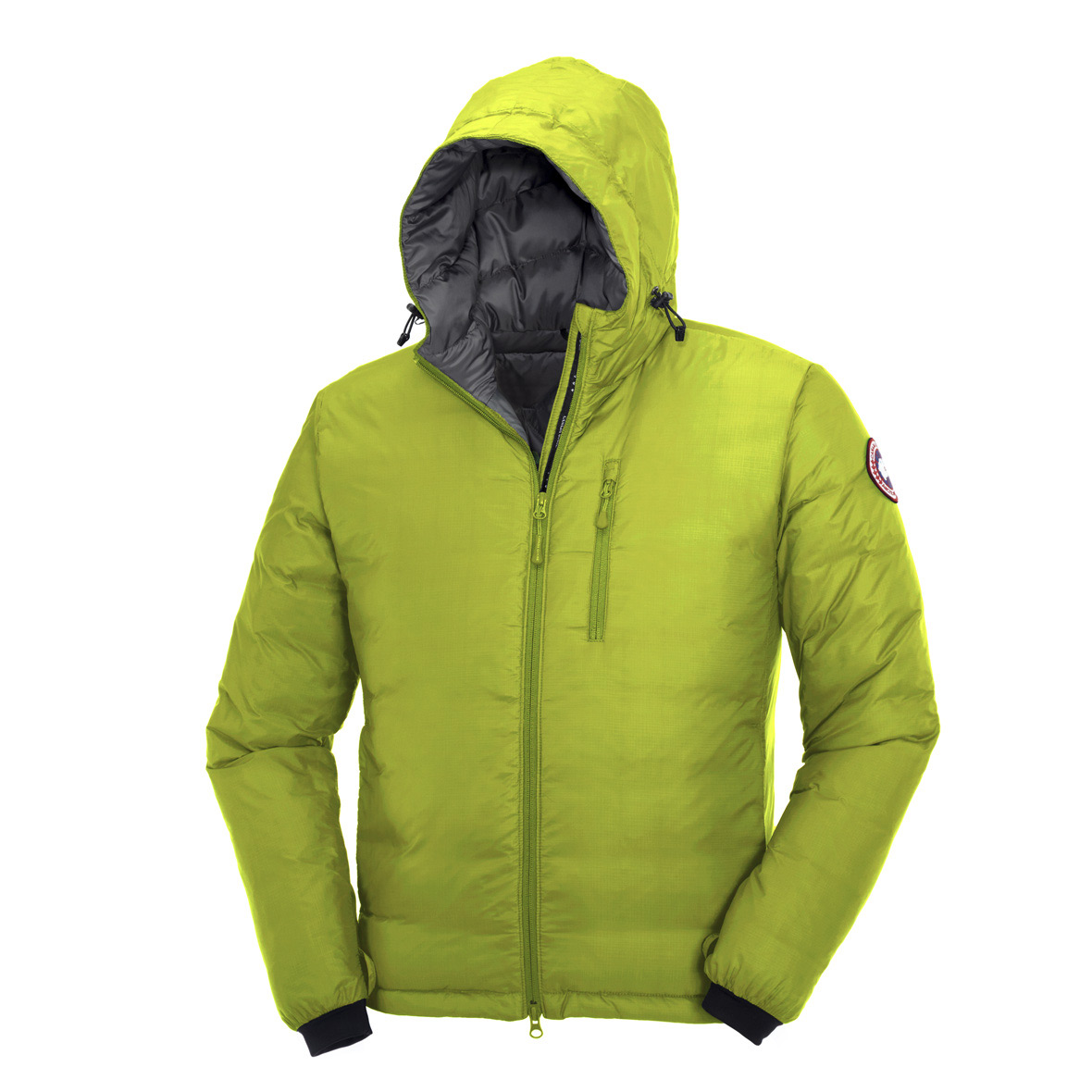 Canada Goose Lodge Down Hoodie AURORA GREEN For Men