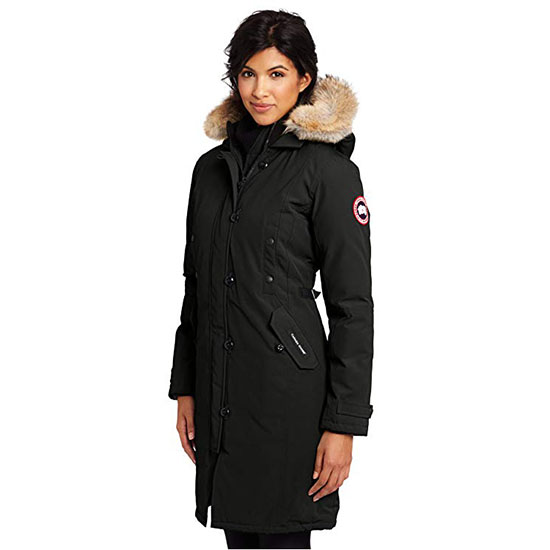 Canada Goose Womens Kensington Parka Coat Black